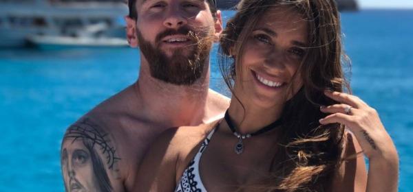Leo Messi ed Antonella Roccuzzo - foto da instagram