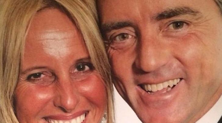 Federica Morelli e  Roberto Mancini da facebook